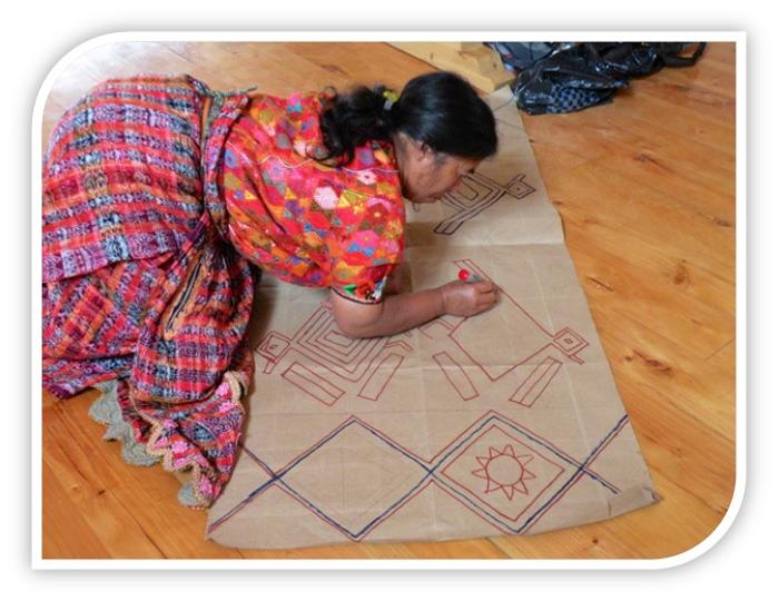 Teaching Rug Hooking In Guatemala